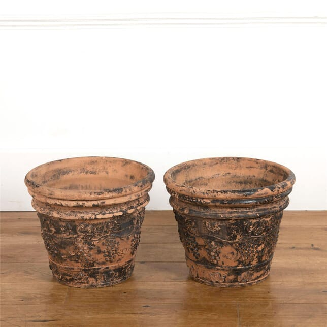 Pair of Terracotta Planters GA737454