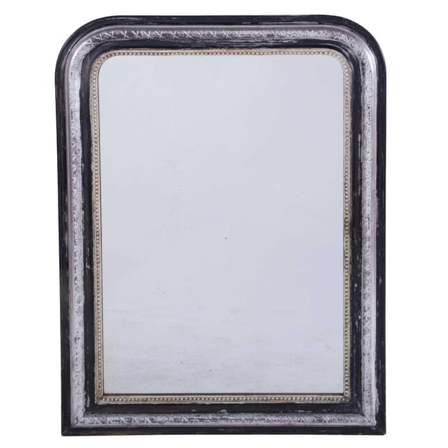 Silver Gilt and Black Louis Philippe Mirror MI7159829
