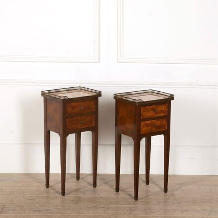 Pair of Marquetry Side Tables TS157043