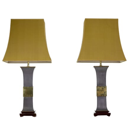 Pair of 1970s Metal and Brass Lamps LT0660044