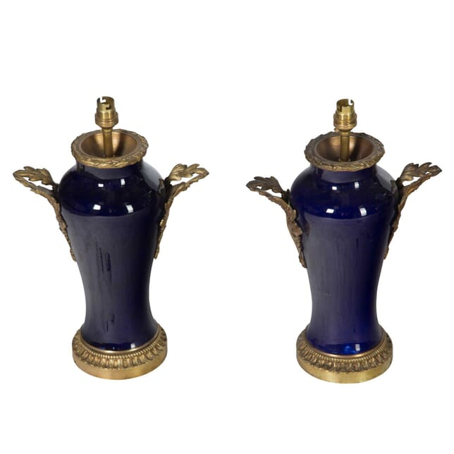 Pair of Bleu de Sevres Pottery Lamps LT5456721