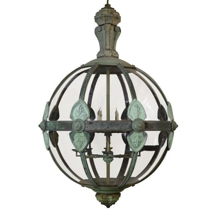 Monumental Copper 16 Light Globe Lantern LC994651