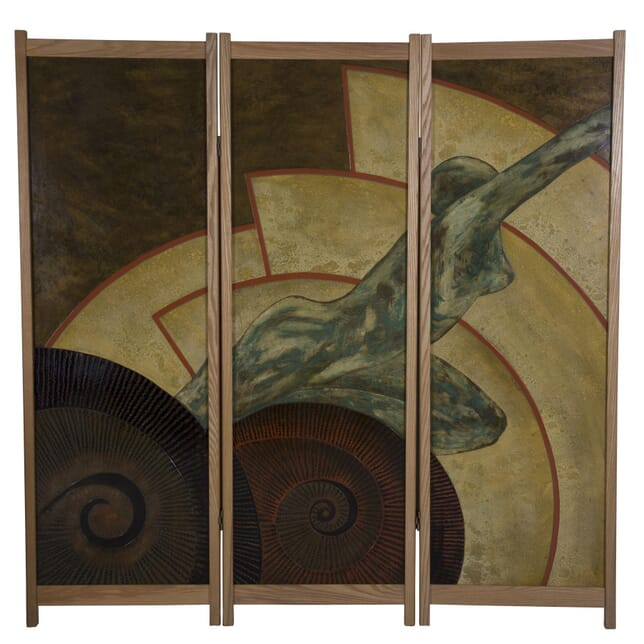 1980s Art Deco Style Three Fold Screen OF3660255