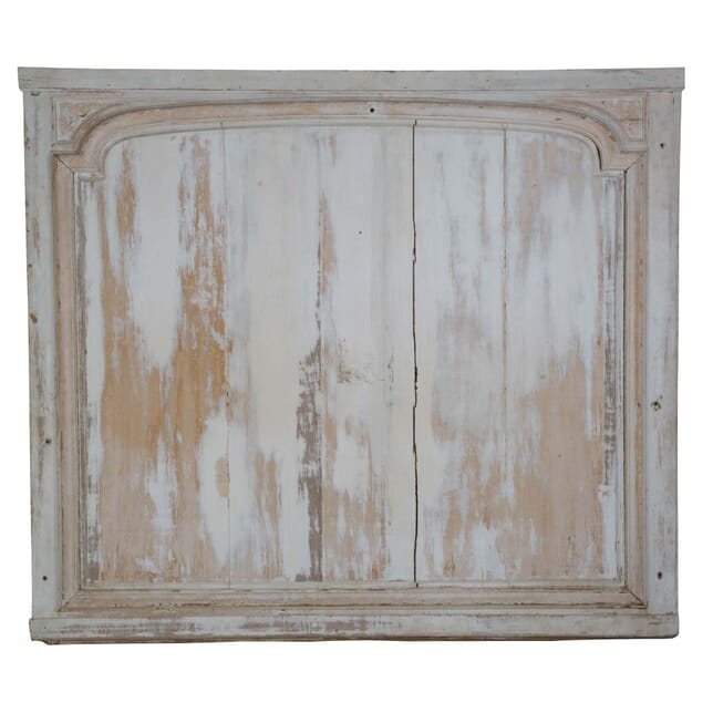 French 18th c Large White Moulded Panel circa 1780 WD449745