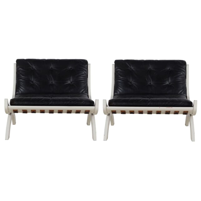Pair of Marco Comolli Due Poltrone Chairs CH238235