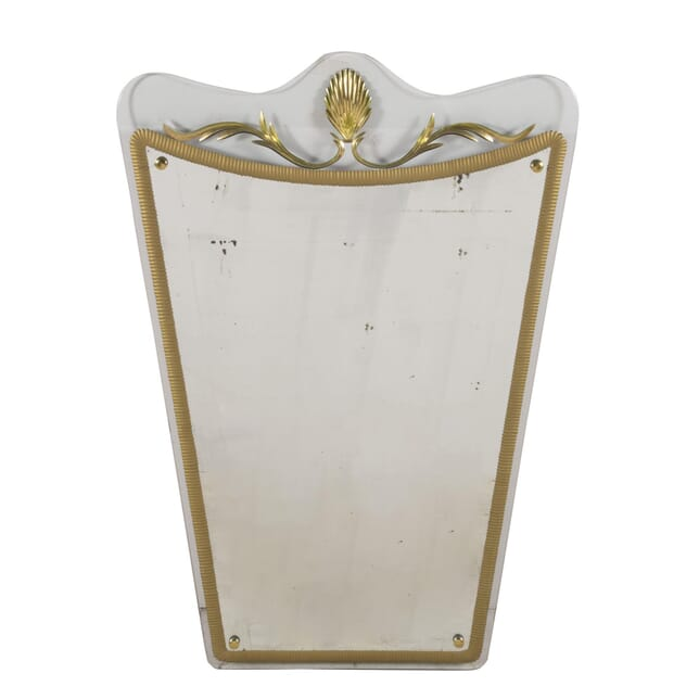 Fabulous Italian Mid Century Shield Mirror By Designers Cristal Arte MI5960242