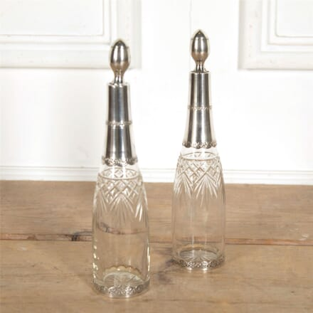 Pair of Silver and Crystal Decanters DA157719