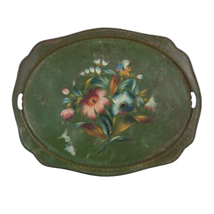 Green Tole Tray DA2012481