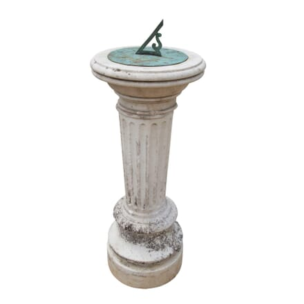 Large Regency Carrara Marble Sundial GA4257259