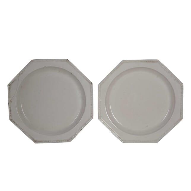 Pair of Creamware Serving Plates DA0155558