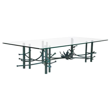 Patinated Wrought Iron Coffee Table CT017875