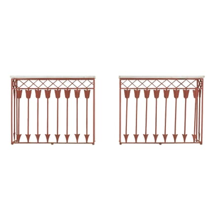 Pair of French 19th Century Iron Consoles CO0660351
