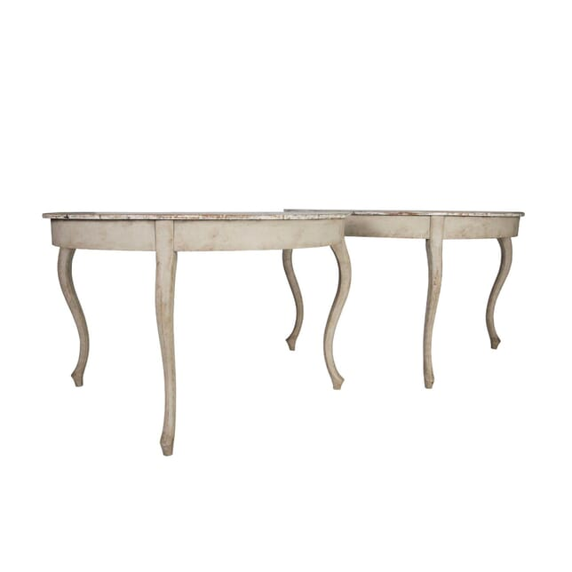 Pair of Swedish Oland Demi Lune Console Tables TS5157244