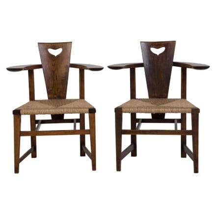 Pair of Original 'Abingwood' Armchairs by George Walton CH0510406