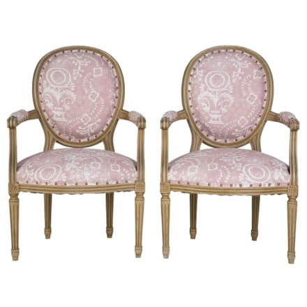 Pair of French Painted Side Chairs CH2010260