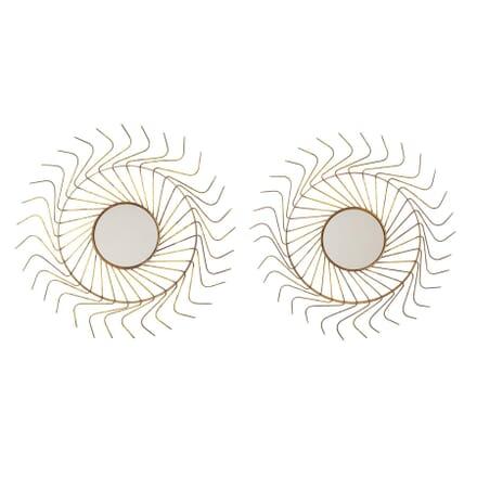Pair of Large Sunburst Mirrors MI1558240