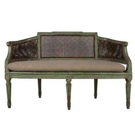 Italian Painted Cane Sofa GA1359790