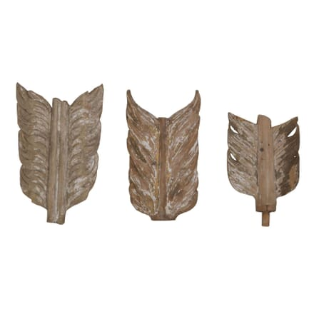 19th Century Carved Wood Feathers DA026378