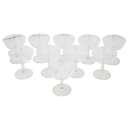 10 Vintage Champagne Glasses DA1512784