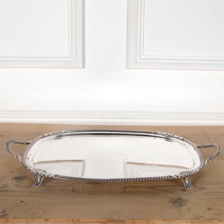 Victorian Twin Handled Silver Plated Drinks Serving Tray DA5861026