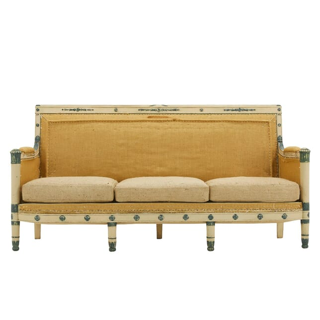 19th Century French Carved Wood Painted Sofa SB0661658