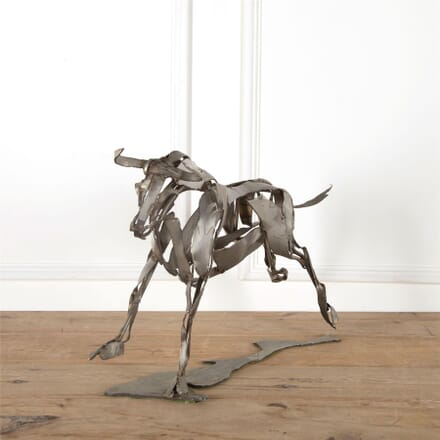 Carved Iron Bull Sculpture DA287380