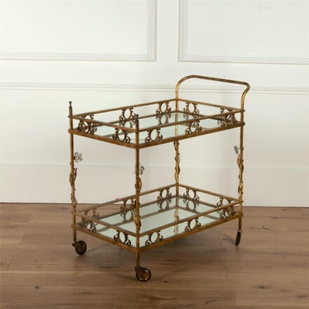 Hollywood Regency Drinks Trolley Bar Cart TS5962279