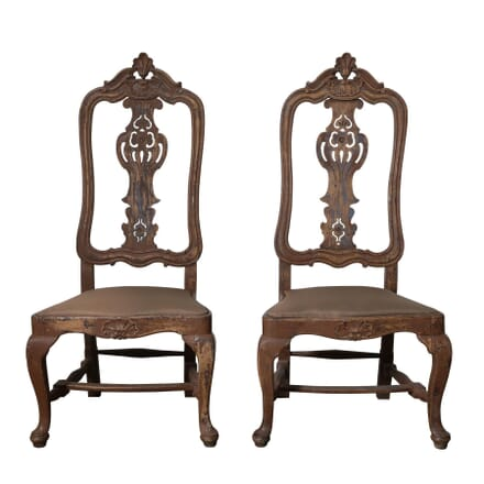 Pair Of High Backed Chairs CH127503