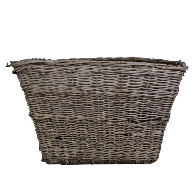 Large Wicker Laundry Basket or Log Bin DA0155985