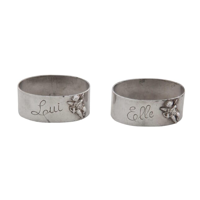 Vintage His and Hers Napkin Rings DA1556451