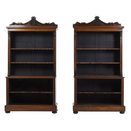 Pair of English Rosewood Bookcases BK0660890
