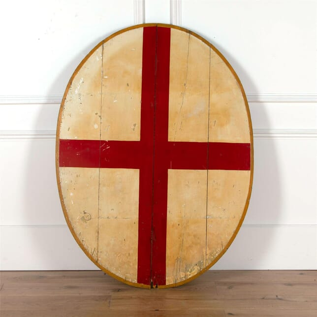 Late Victorian Painted Armorial Shield WD4762181