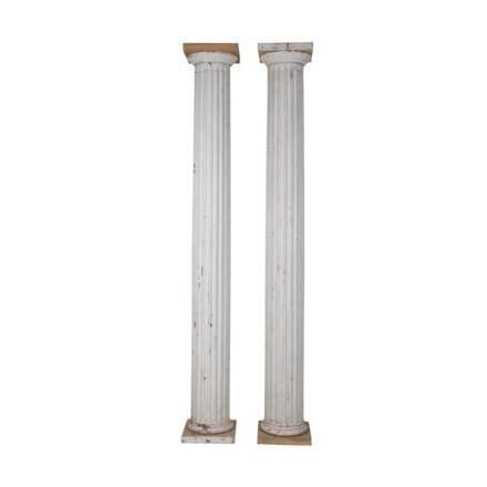 Pair of Carved Wooden Fluted Columns DA234572