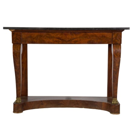 Burr Walnut and Marble Console Table CO2810624