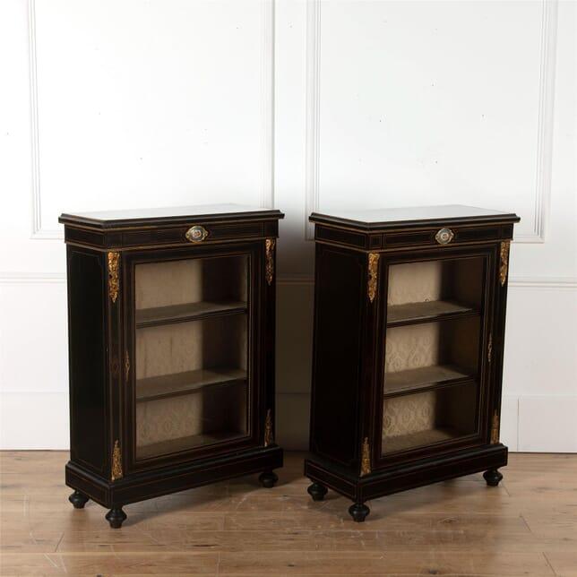 Pair of ebonised pier cabinets CU7362427