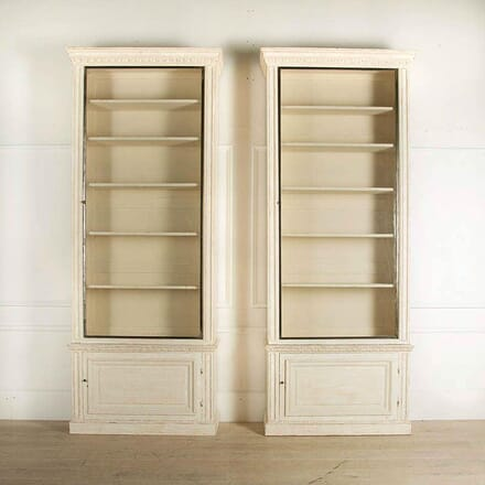 Pair of French 19th Century Glazed Bookcases BK2359292