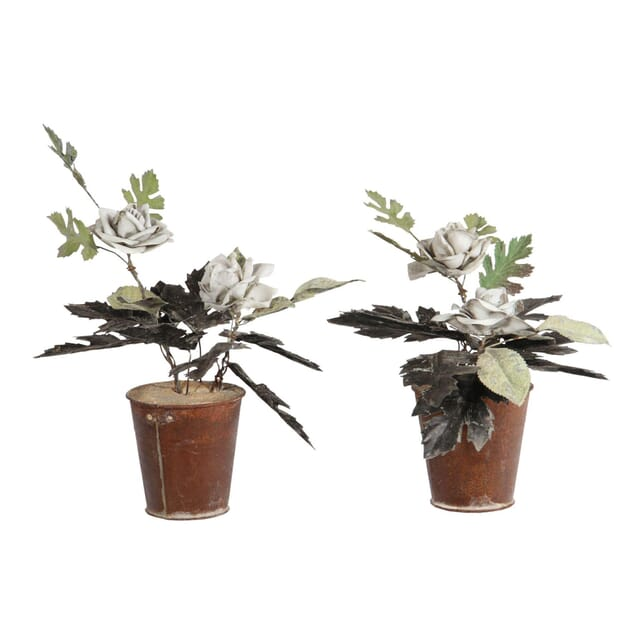 Tole and Porcelain Potted Plants DA150185