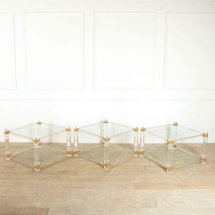 Set of Three Lucite Side Tables TC307337