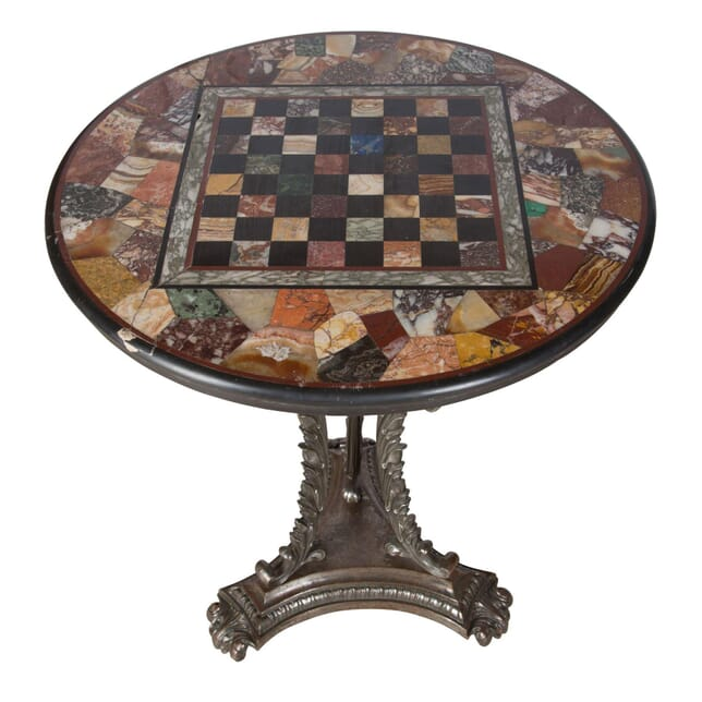 Occasional Table with Specimen Marble Chessboard Top TC0158698