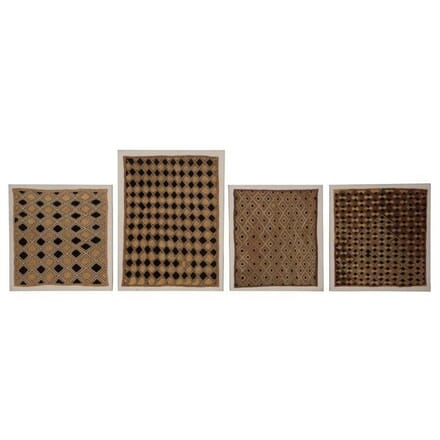 Four Raffia Panels Mounted on Canvas WD274408