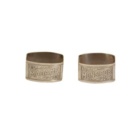 Madame & Monsier Napkin Rings DA1560858