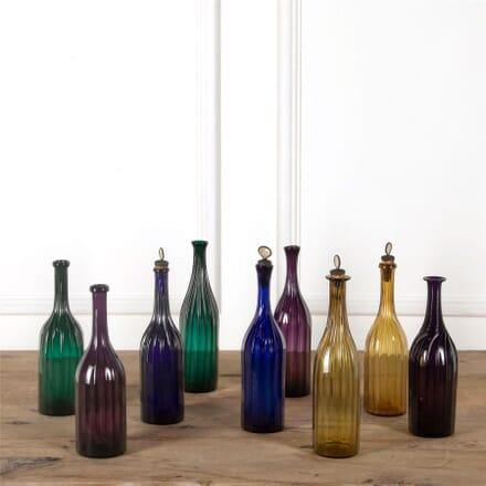Coloured Glass Hand Blown Bottle Decanters DA587347