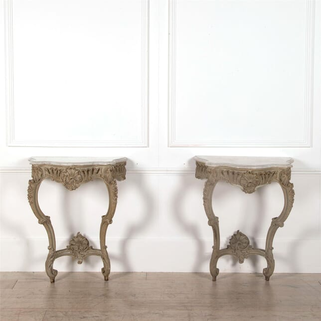 Pair of Marble Top Console Tables CO5262385