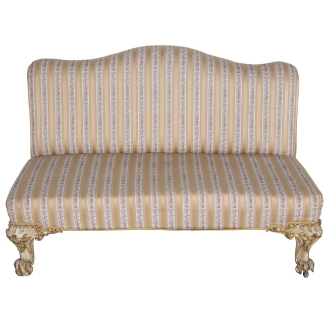 19th Century Carved Giltwood English Banquette Circa 1860 SB2360067