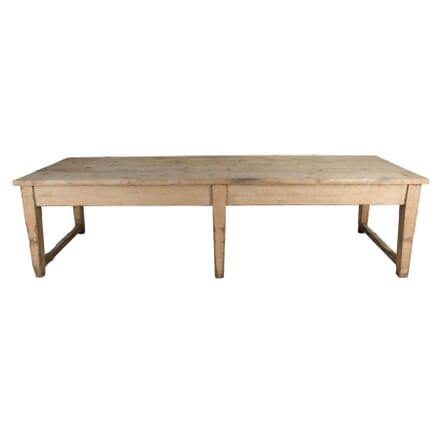 Very Large Painted Pine Kitchen / Dining Table TD0954543