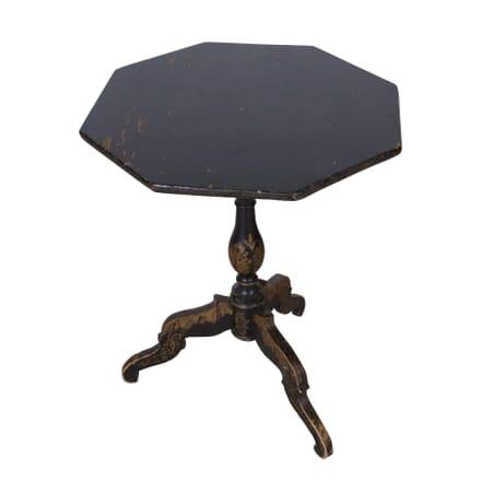 19th Century Ebonised & Gilt Tilt Top Side Table TC2057924