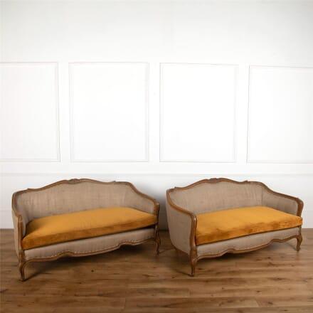 Pair of walnut sofas SB727549