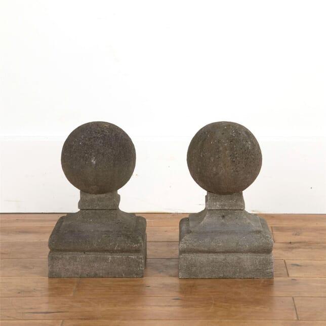 Pair of Stone Ball Finials DA737092