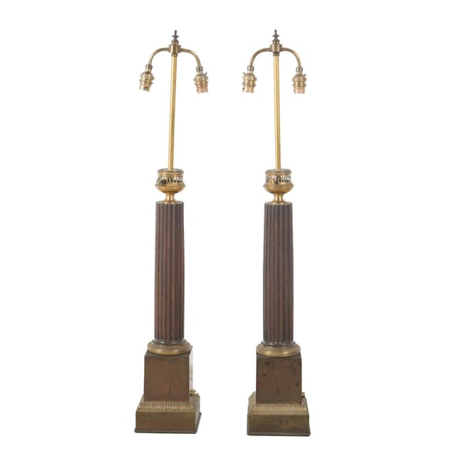 Pair of French Empire Lamps LT235190