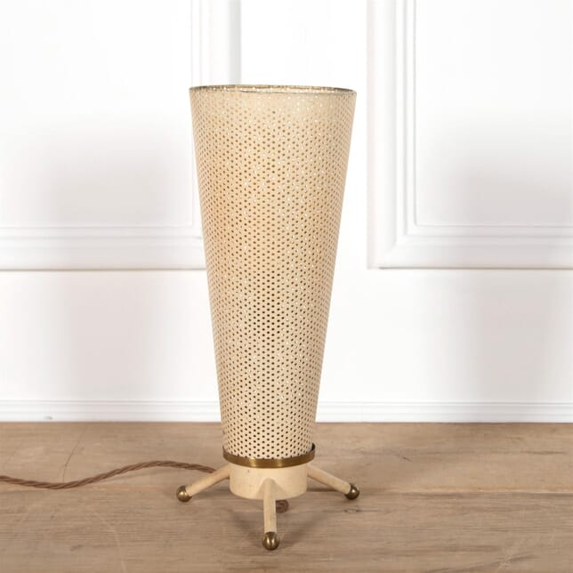 Mid Century Perforated Steel Cone Shaped Table Lamp LT2962122
